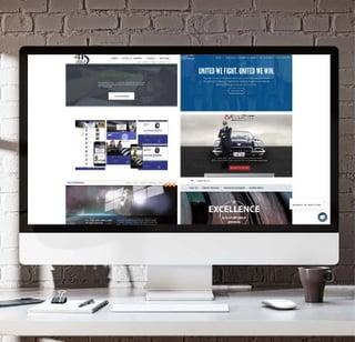 portfolio of web design screenshots