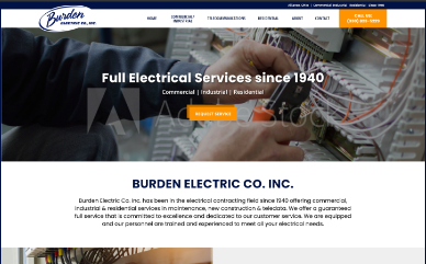 Burden Electric home page