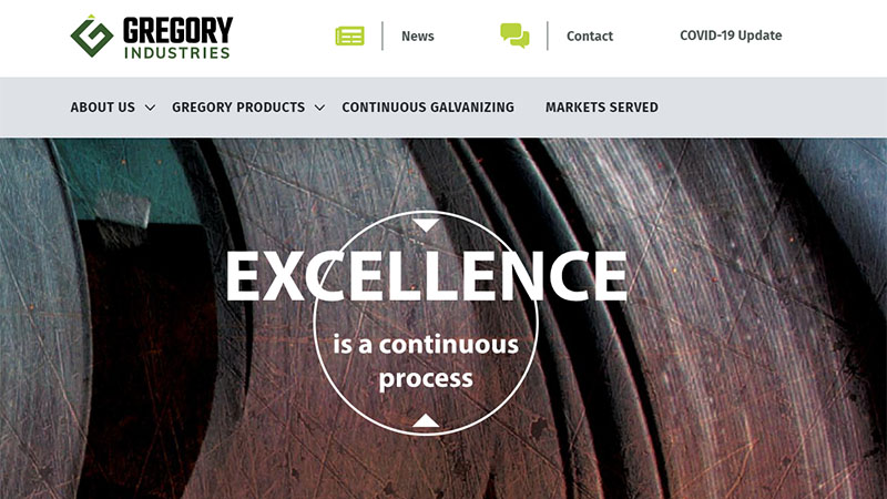 Gregory Industries home page